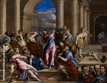 The Money Changers from The Temple By El Greco