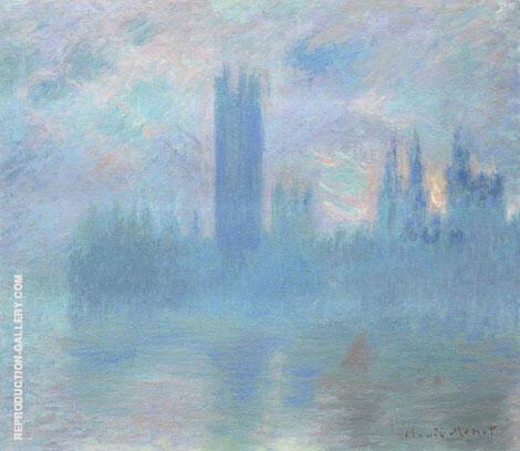 Houses of Parliament London c1900 By Claude Monet