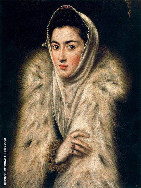 Lady in Fur Painting By El Greco - Reproduction Gallery