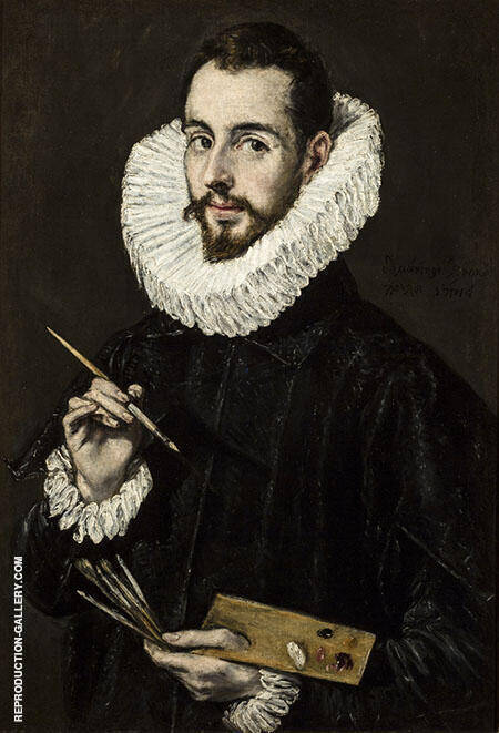 Portrait of Jorge Manuel Theotocopoulo Painting By El Greco