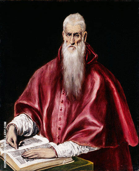 Saint Jerome as Scholar By El Greco