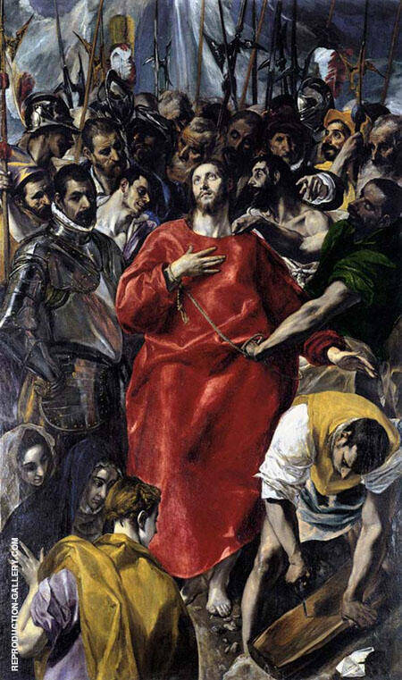The Disrobing of Christ Painting By El Greco - Reproduction Gallery