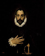 The Knight with His Hand on His Breast By El Greco