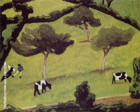 Cows in a Field By Roger de La Fresnaye
