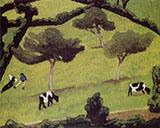 Cows in a Field By Roger de La Fresnaye