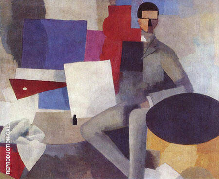 Homme assis Seated Man 1914 By Roger de La Fresnaye