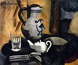 Still Life with Teapot By Roger de La Fresnaye