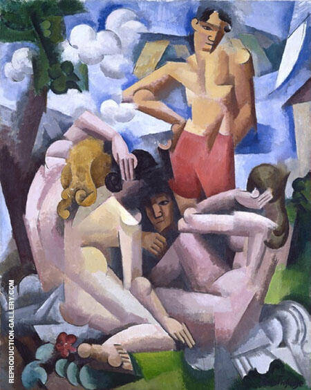 The Bathers 1912 By Roger de La Fresnaye