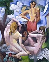 The Bathers 1912 By Roger de La Fresnaye
