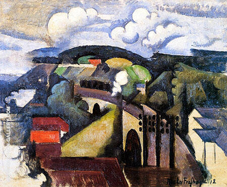 The Meulan Viaduct By Roger de La Fresnaye