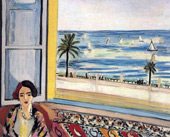 Seated Woman Back Turned to the Open Window 1922 By Henri Matisse