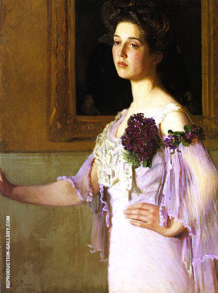 Mrs Joseph Clark Grew Alice Perry Grew 1904 Painting By Lilla Cabot Perry