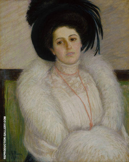 Portrait of Alice Aerry Grew Painting By Lilla Cabot Perry