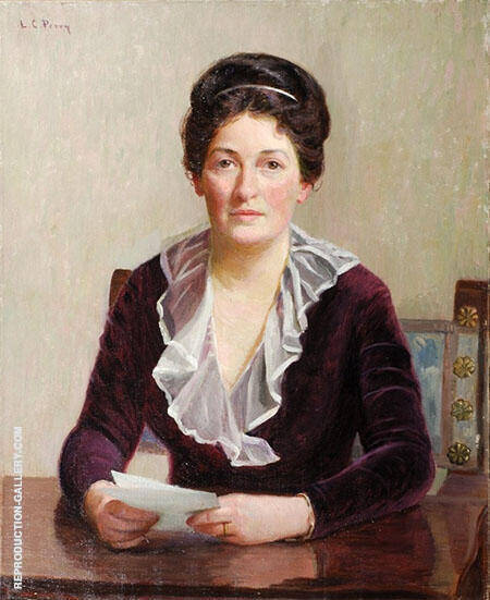 Portrait of A Seated Woman By Lilla Cabot Perry
