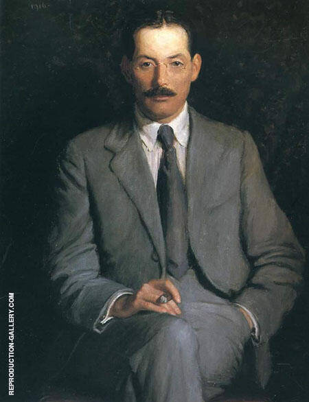 Portrait of Edwin Arlington Robinson By Lilla Cabot Perry