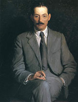 Portrait of Edwin Arlington Robinson By Lilla Cabot Perry
