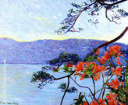Suruga Bay Azaleas 1900 By Lilla Cabot Perry