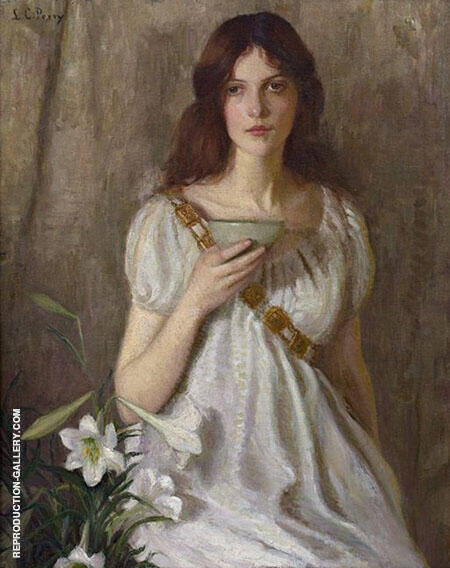 The Cup of Knowledge Painting By Lilla Cabot Perry - Reproduction Gallery