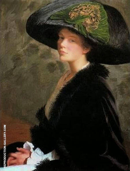 The Green Hat Painting By Lilla Cabot Perry - Reproduction Gallery