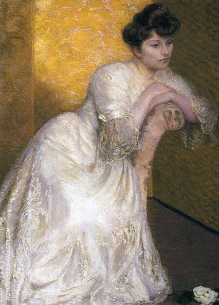 The Yellow Screen By Lilla Cabot Perry