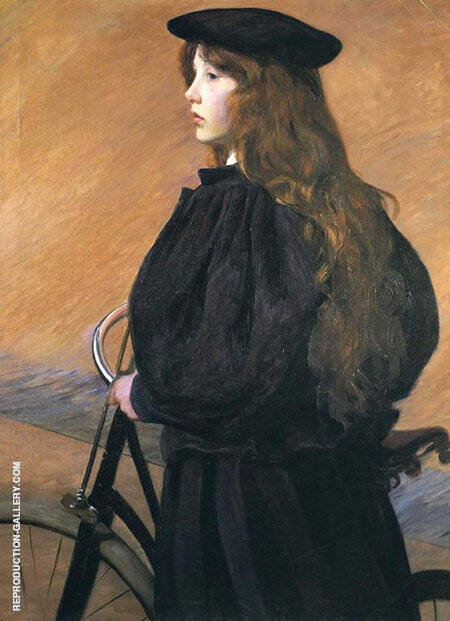 Young Bicyclist By Lilla Cabot Perry