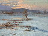 Winter Twilight By Albert Ernst Muhlig