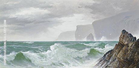 Waves Crashing into The Cornish Coast By David James