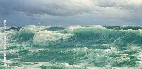 When The Wind Blows The Sea in Painting By David James