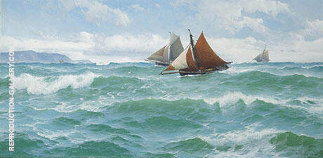With The Wind and Tide Painting By David James - Reproduction Gallery