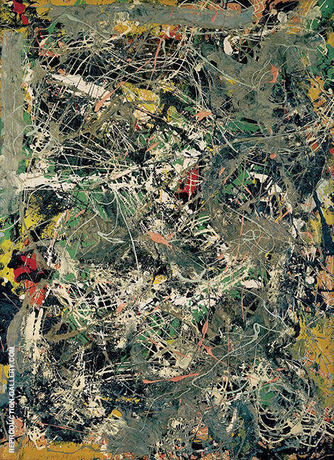Untitled 1949 D By Jackson Pollock (Inspired By)