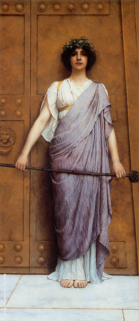 At The Gate of The Temple 1898 By John William Godward