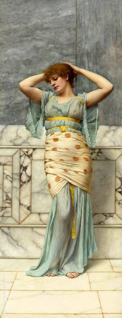 Beauty in a Marble Room. By John William Godward