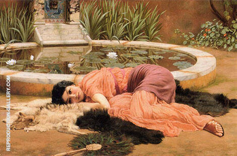 Dolce Far Niente 1904 Painting By John William Godward