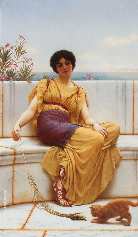 Idleness 1900 By John William Godward