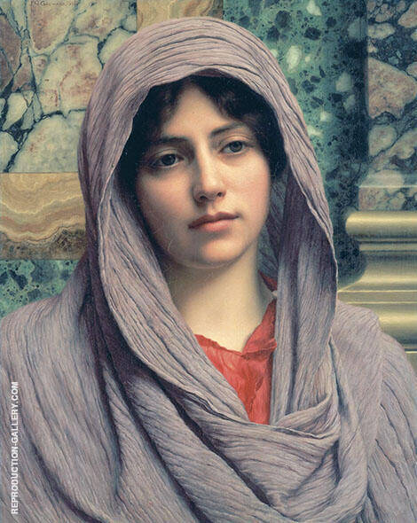 Lycinna 1918 Painting By John William Godward - Reproduction Gallery