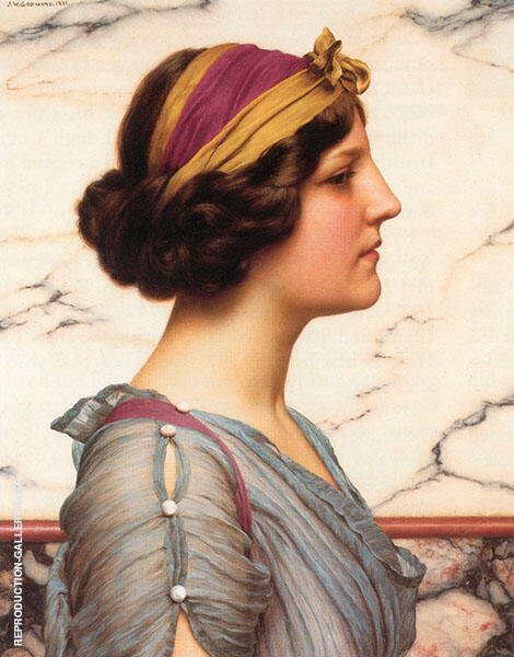 Megilla 1921 Painting By John William Godward - Reproduction Gallery