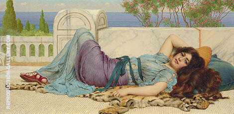 Mischief and Repose Painting By John William Godward