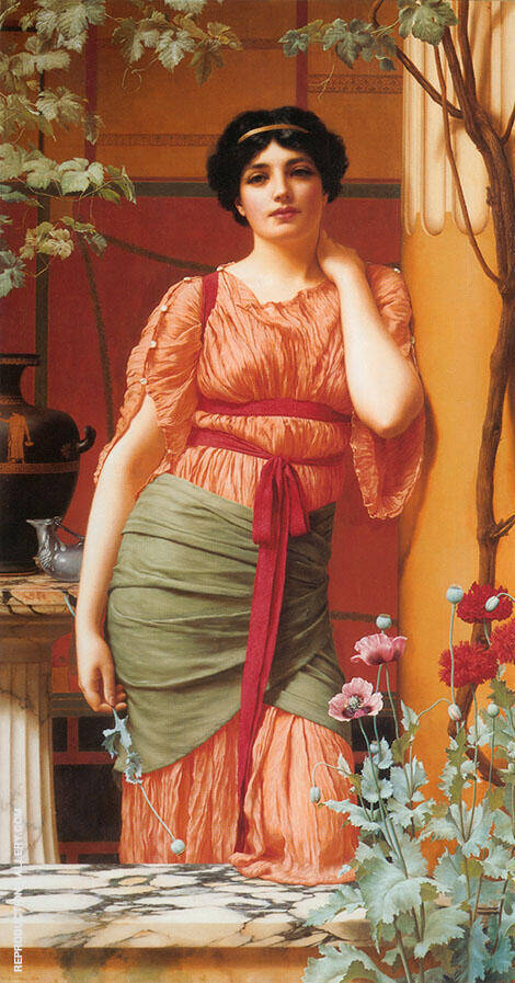 Nerissa 1906 Painting By John William Godward - Reproduction Gallery