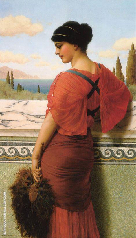 Phyleis 1908 Painting By John William Godward - Reproduction Gallery