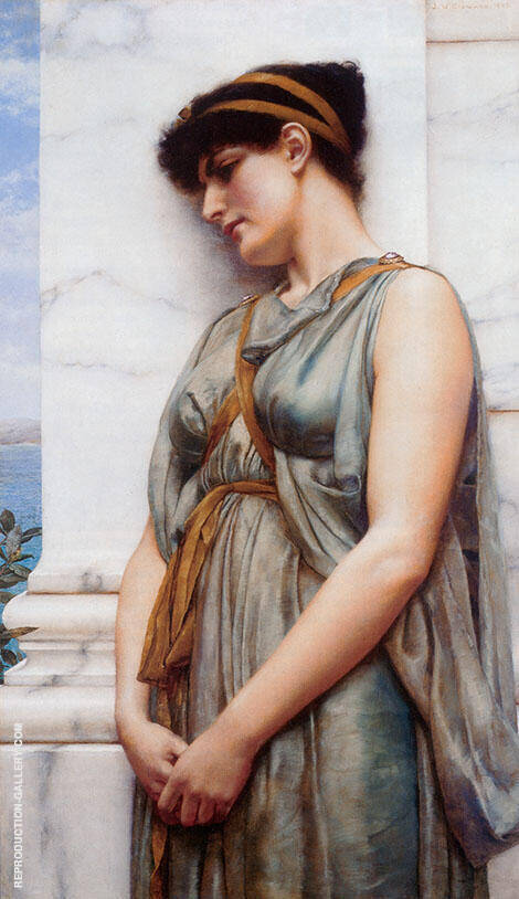Pompeian Girl 1889 Painting By John William Godward - Reproduction Gallery
