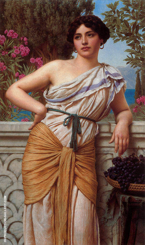 Reverie 1912 Painting By John William Godward - Reproduction Gallery