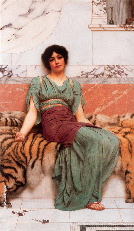 Sweet Dreams 1901 Painting By John William Godward - Reproduction Gallery