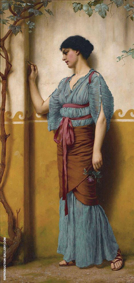 The Trysting Place Painting By John William Godward - Reproduction Gallery
