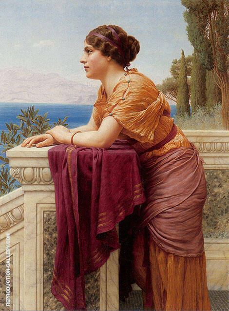 The Belvedere 1913 Painting By John William Godward - Reproduction Gallery