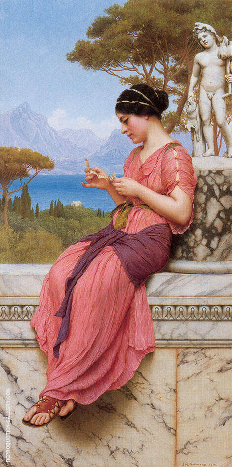 The Love Letter 1913 Painting By John William Godward
