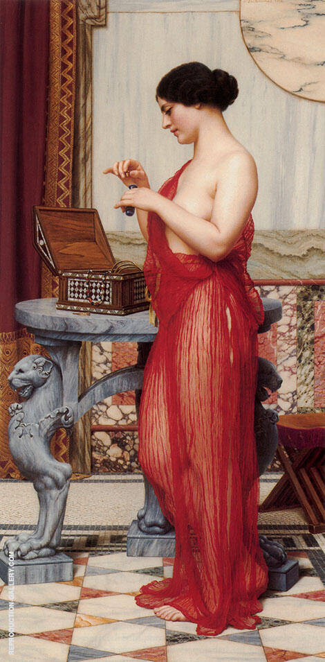 The New Perfume 1914 Painting By John William Godward