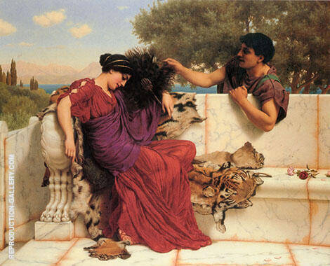 The Old Story 1903 Painting By John William Godward - Reproduction Gallery