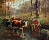 At The Watering Hole 1905 By Matilda Browne
