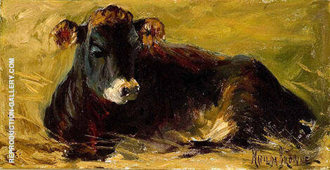 Cow Lying Down By Matilda Browne