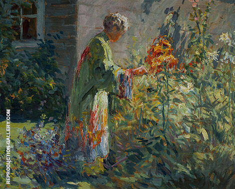 In The Garden c1914 By Matilda Browne
